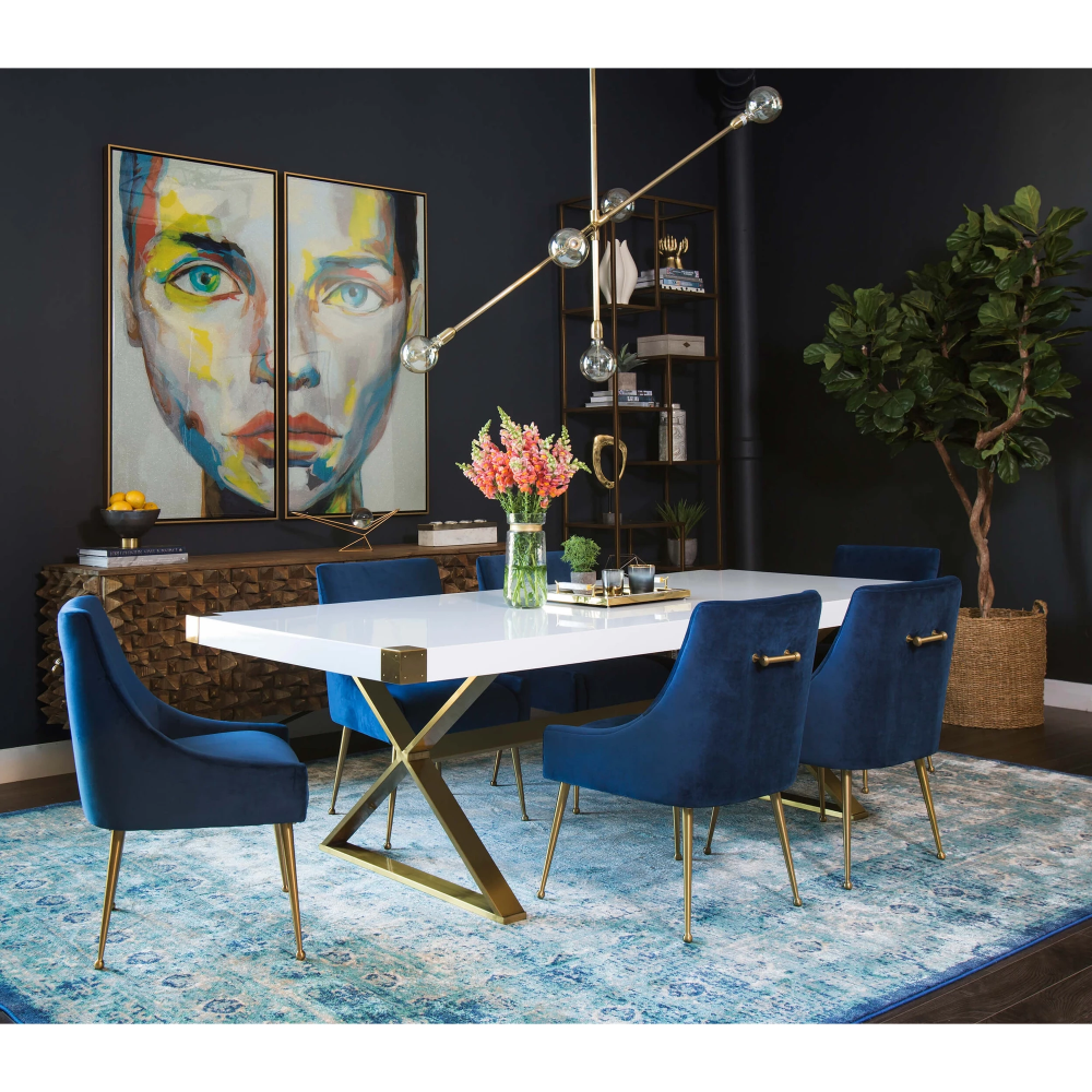 West Elm Dinning Table And Chairs Obsessed With Navy Blue And