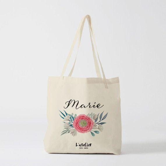 w30y tote bag personnalis sac de toile cabas sac demoiselle d 39 honneur mari e mariage tote bag. Black Bedroom Furniture Sets. Home Design Ideas