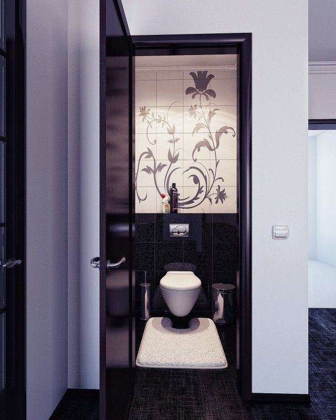 Guest Bath For The Home Pinterest Beautiful Home Interiors - Toilet mat black for bathroom decorating ideas