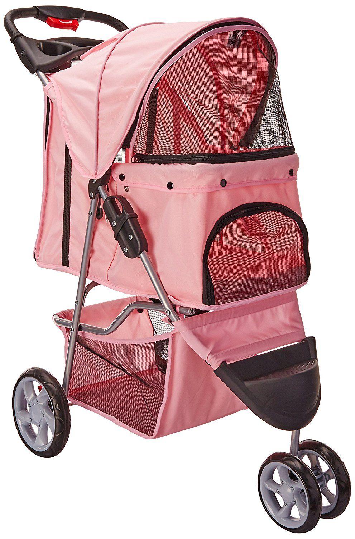 Oxgord pet stroller cat dog easy walk folding travel