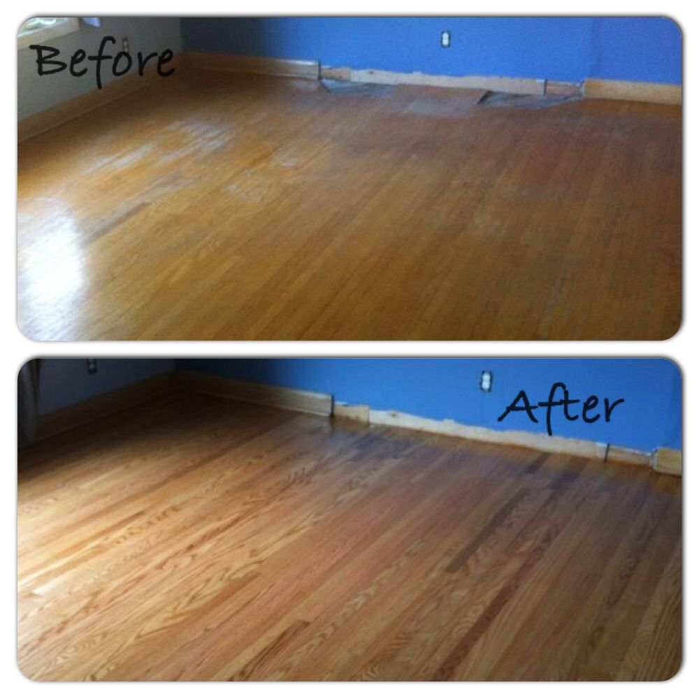 Refinishing and some board replacement Hardwood floors