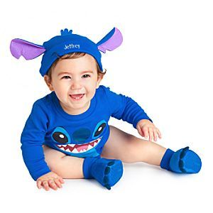 DISNEY Store LILO /& STITCH Baby Boy Costume 2-Pc Bodysuit /& Hat ~ Sz 6-9M ~ NWT
