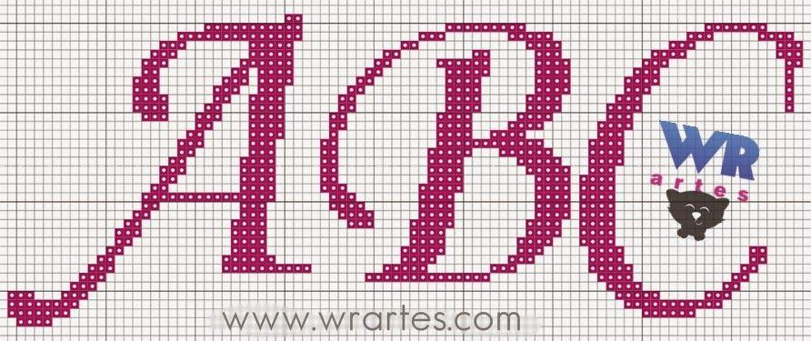 Blog do Wagner Reis: Gráfico letra cursiva ponto cruz | Ponto cruz, Coroas em ponto cruz, Cursiva