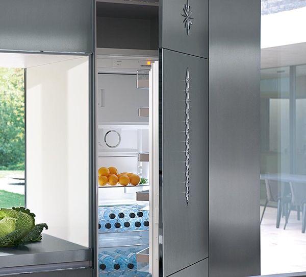 cocinas Diseño de cocina para un loft con frigorífico integrado ...