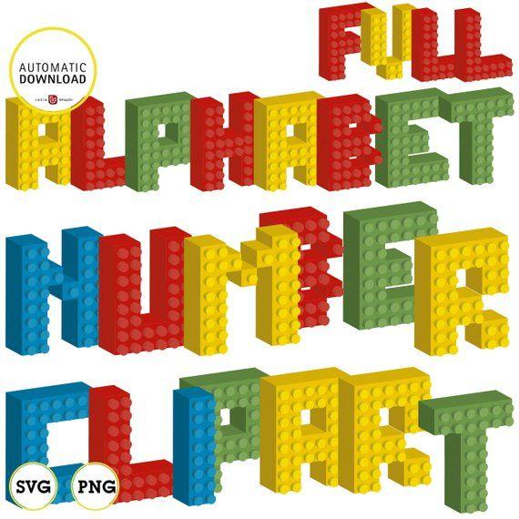 Building Blocks Alphabet Clipart 3d Svg Pdf Ai Vector