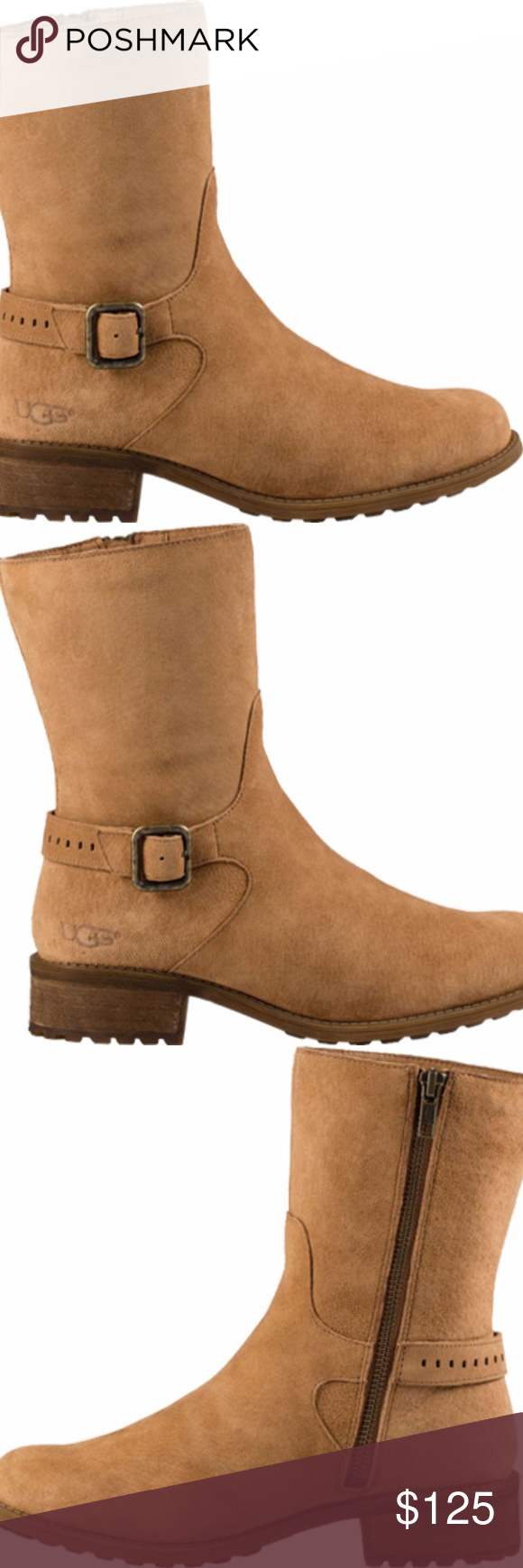63ed0c7790c Ugg Chestnut Keppler Boots Size 8 Brand New Featuring a classic ...