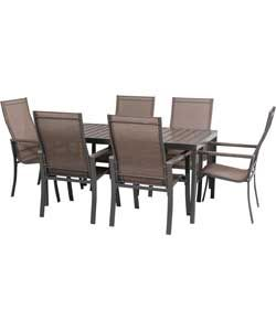 Amalfi 6 Seater Patio Furniture Dining Set.