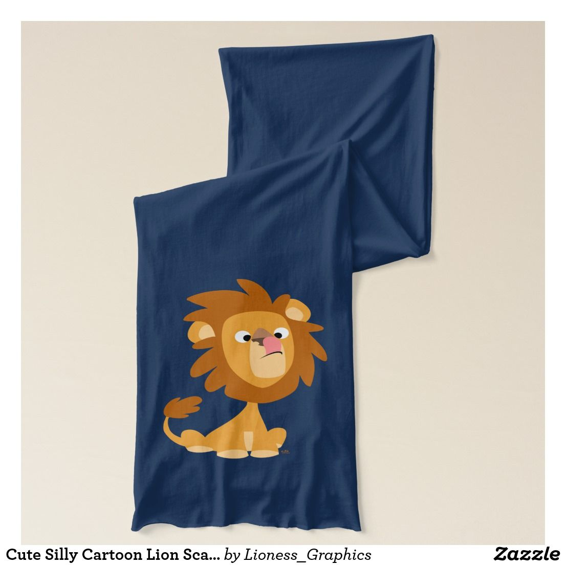 Cute Silly Cartoon Lion Scarf |  Cute Silly Cartoon Lion Scarf by Cheerful Madness!! At Zazzle