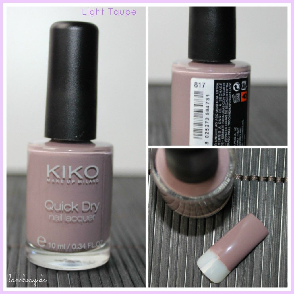 KIKO quick dry nail lacquer 817 light taupe - KIKO Haul Teil 1 oder ...