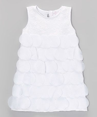 Look what I found on #zulily! White Circle Shift Dress - Toddler & Girls by Blossom Couture #zulilyfinds