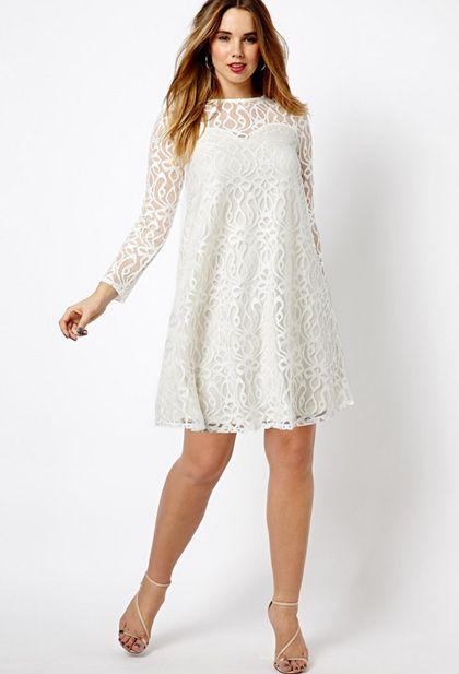 Vestido fiesta blanco talla grande