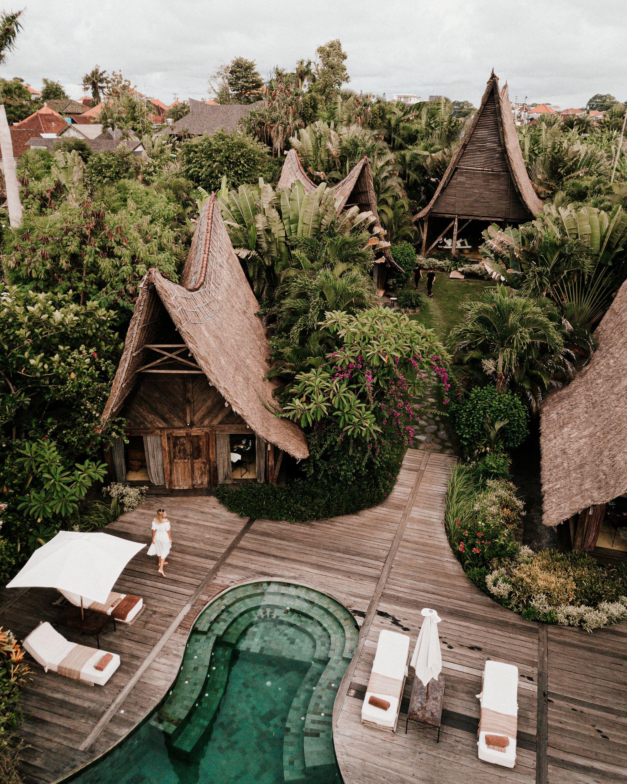 Drone Photograph Of Bucket List Destination In Bali Indonesia Design Home Eco Resort Own Villa Bali Bali Travel Honeymoon