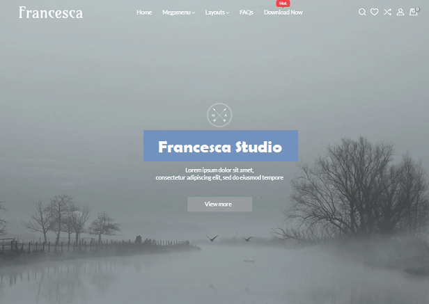 FRANCESCA PHOTOGRAPHY STUDIO FREE SHOPIFY THEME