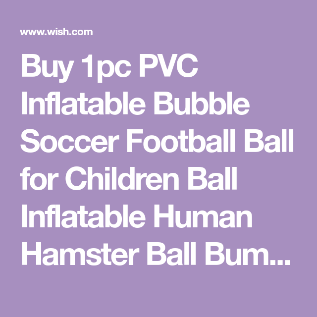 1pc Pvc Inflatable Bubble Soccer Football Ball For Children Ball
