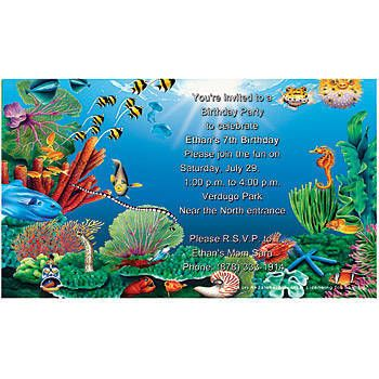 Under The Sea Blank Free Invitations To Print At Home