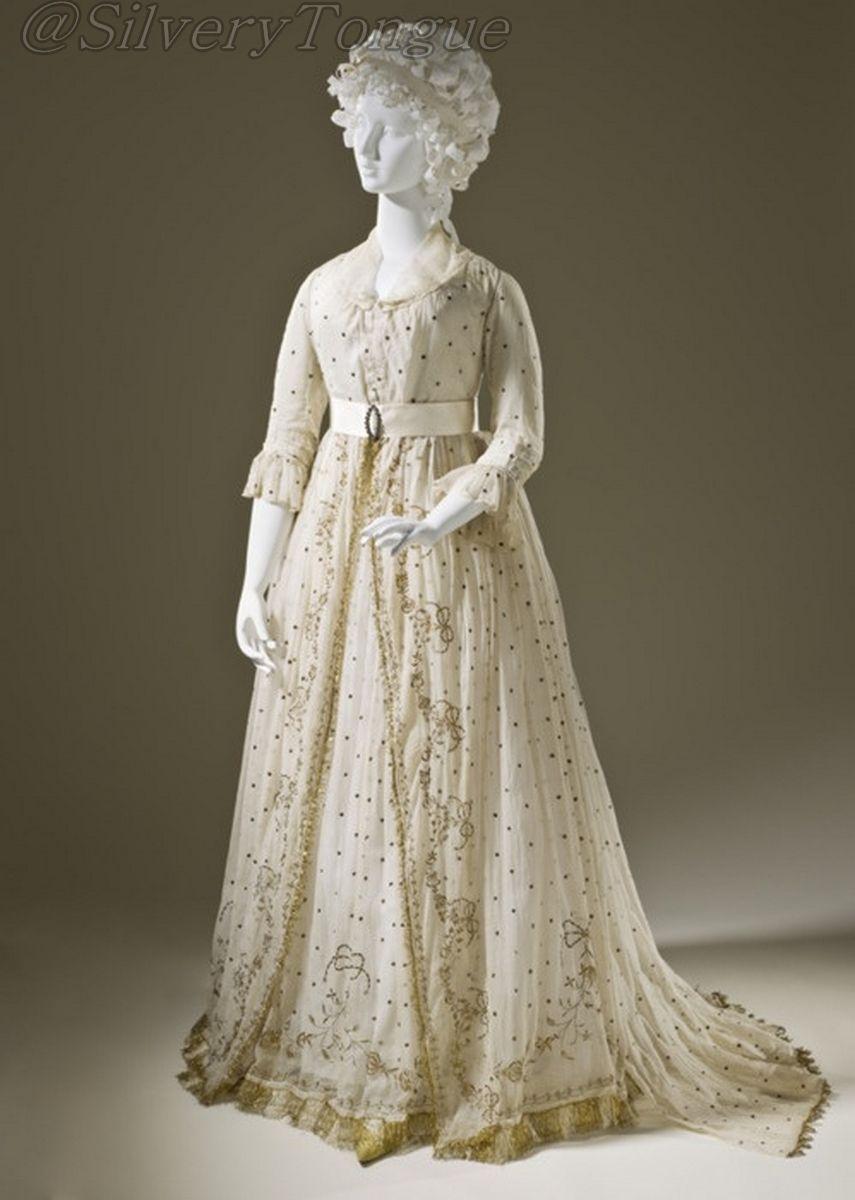 Dress, ca 1795 England, LACMA.