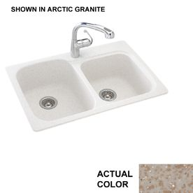 Shop Swanstone Double Basin Drop In Or Undermount Composite Kitchen Sink At Lowes Com Composite Kitchen Sinks Best Kitchen Sinks Kitchen Sink