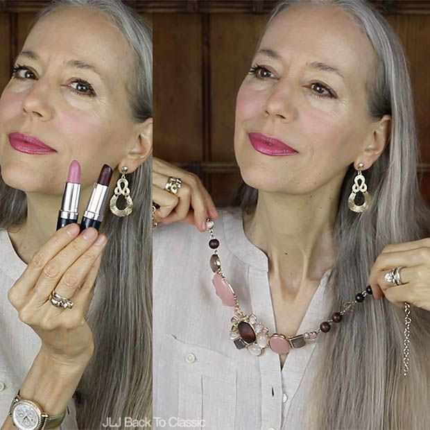 Classic-Moda-Over-40-Cáñamo-Colorganics-Lipstick-Talbots-Cabohon-y-Bead-Collar