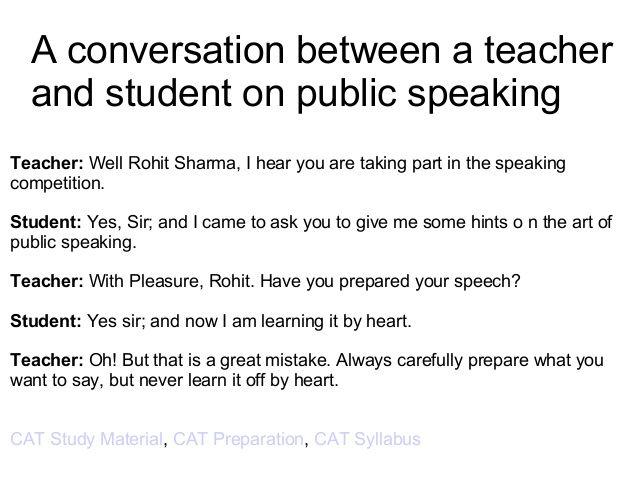 2. Conversation on exam preparation
