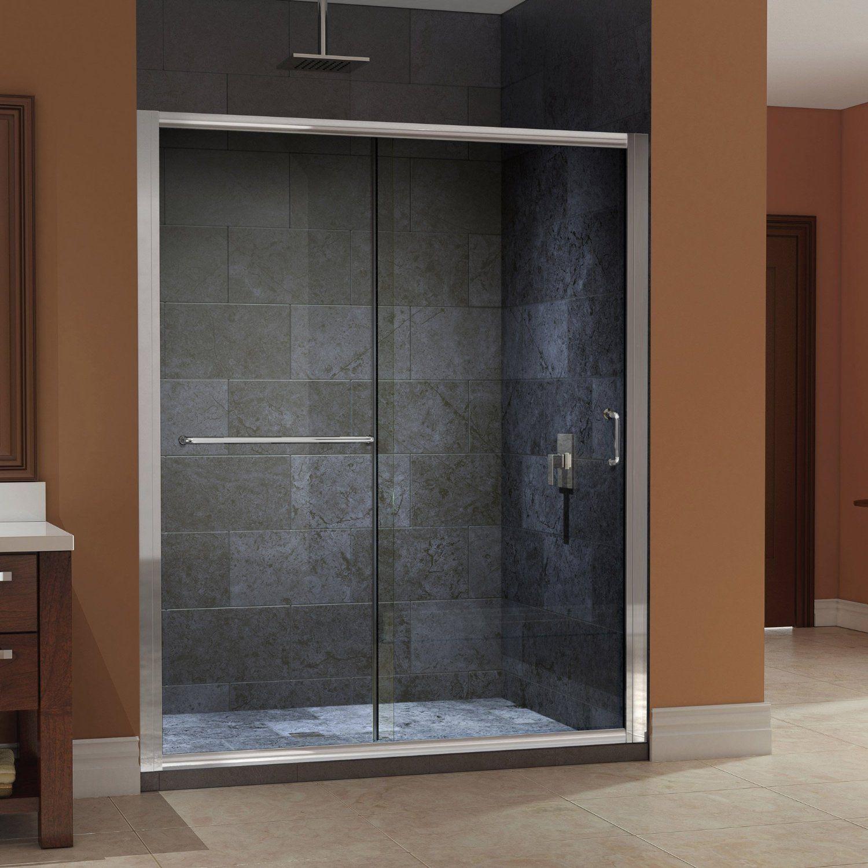 Amazon Com Dreamline Shdr 0960720 04 Infinity Z Frameless Sliding Shower Door 56 To 60 Inch Sliding Shower Door Shower Doors Frameless Sliding Shower Doors