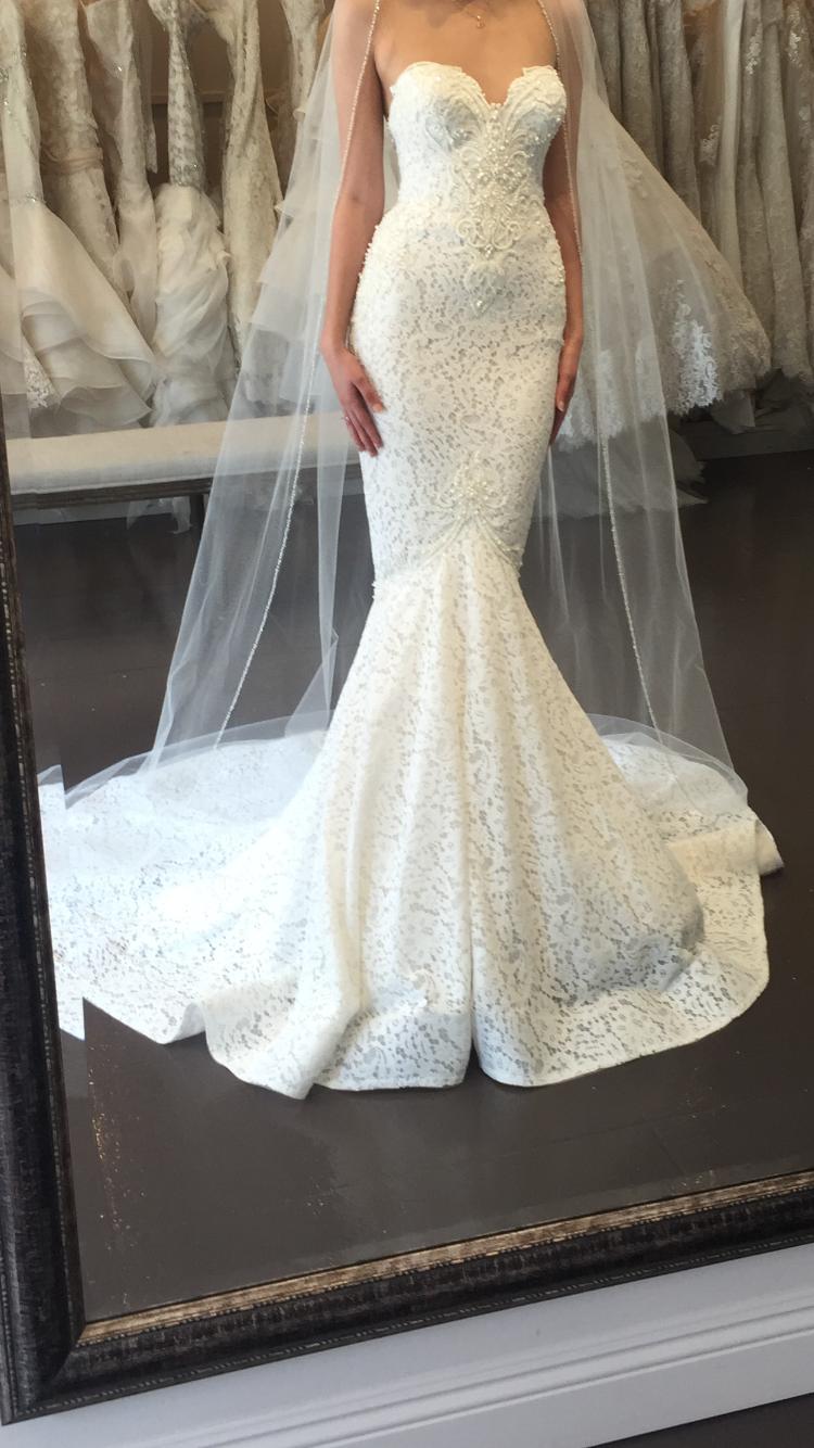 Berta 15106 Wedding Dress Used, Size 2, 5,000