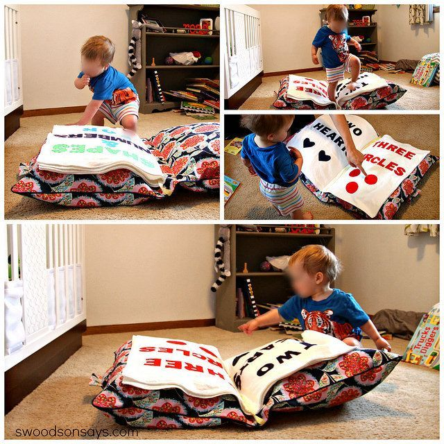 floor pillows for kids. DIY Toddler Floor Pillow Book by swoodsonsays  via Flickr Giant Toy toys and Babies