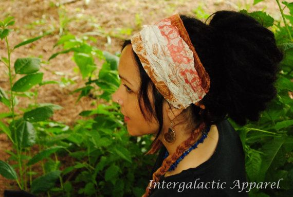 Headband Dread wrap Hippie Headband Gypsy by IntergalacticApparel