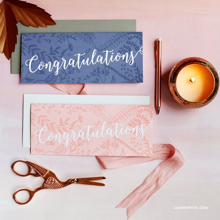 graphic regarding Free Printable Money Holder Cards titled Tasteful Monetary Holder Congratulations Card Printables The
