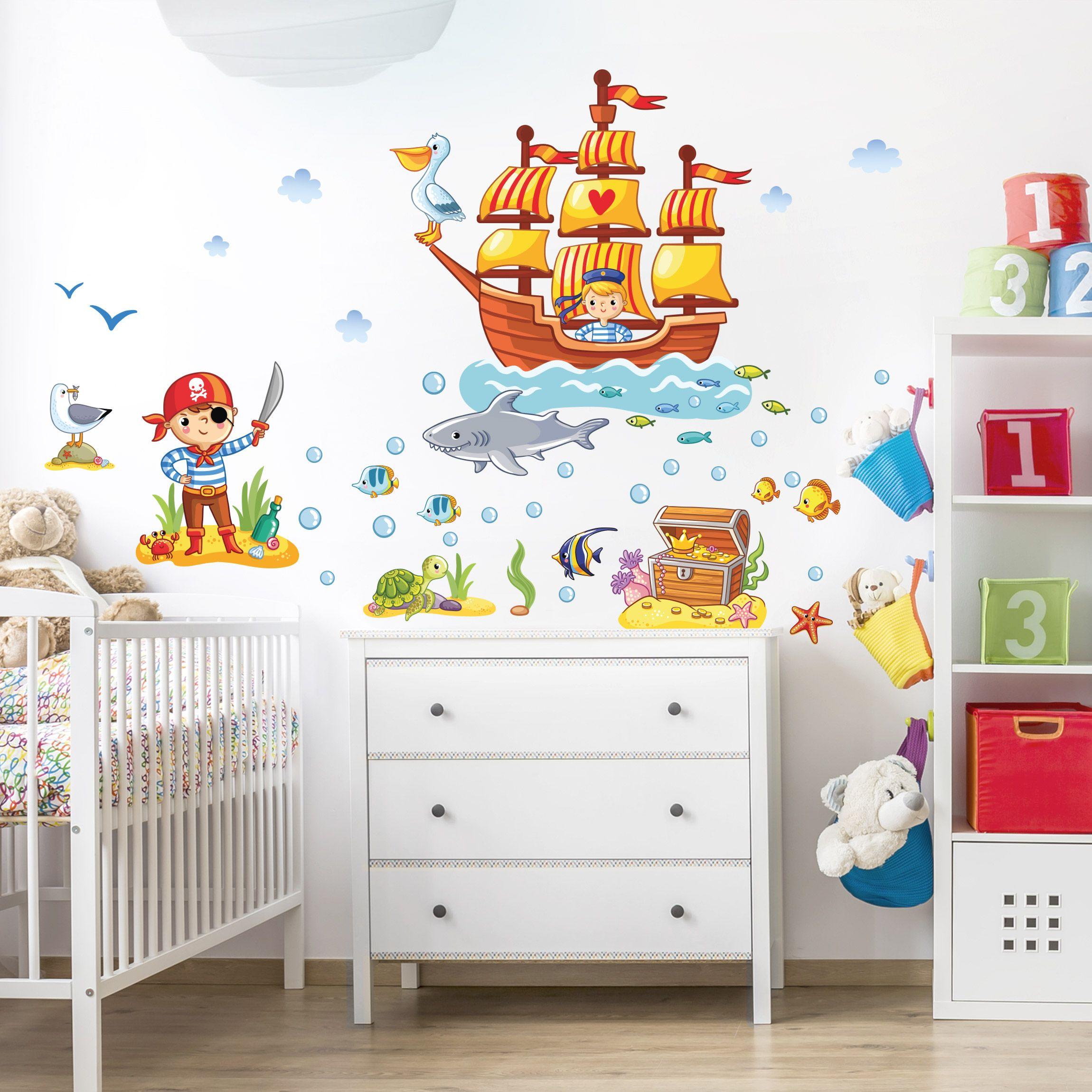 Adesivo murale Pirates set nel 2020   Camerette, Idee per ...