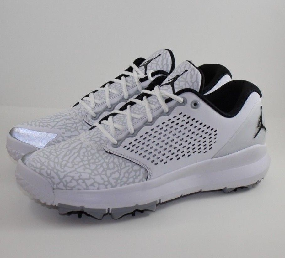 2a7fdab713de Nike Air Jordan Trainer ST G Golf Shoe White Black Wolf Grey AH7747-100  Size 11