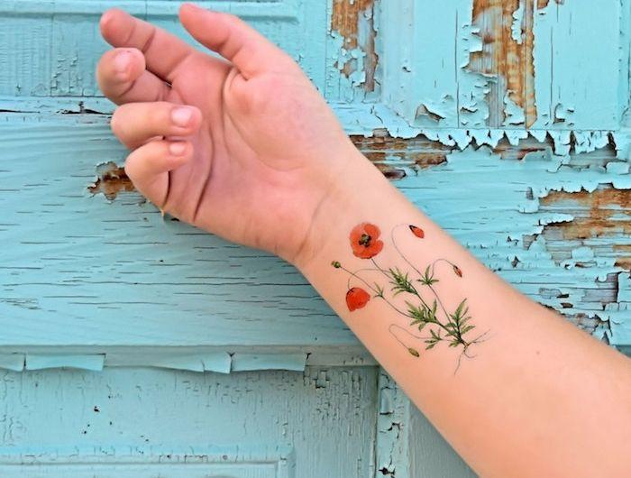 tatouage coquelicot – un champ de 52 modèles en photos | tatouages