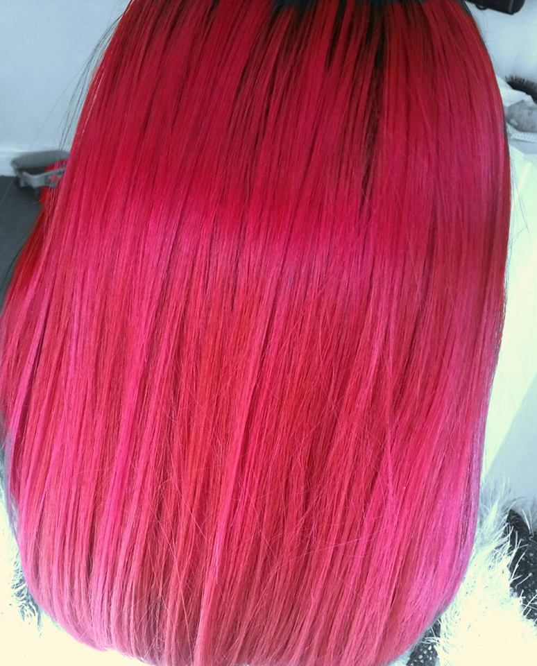 Tulip Over Faded Vermillion Red Hair Colors Ideas Color De Cabello Cabello Colores