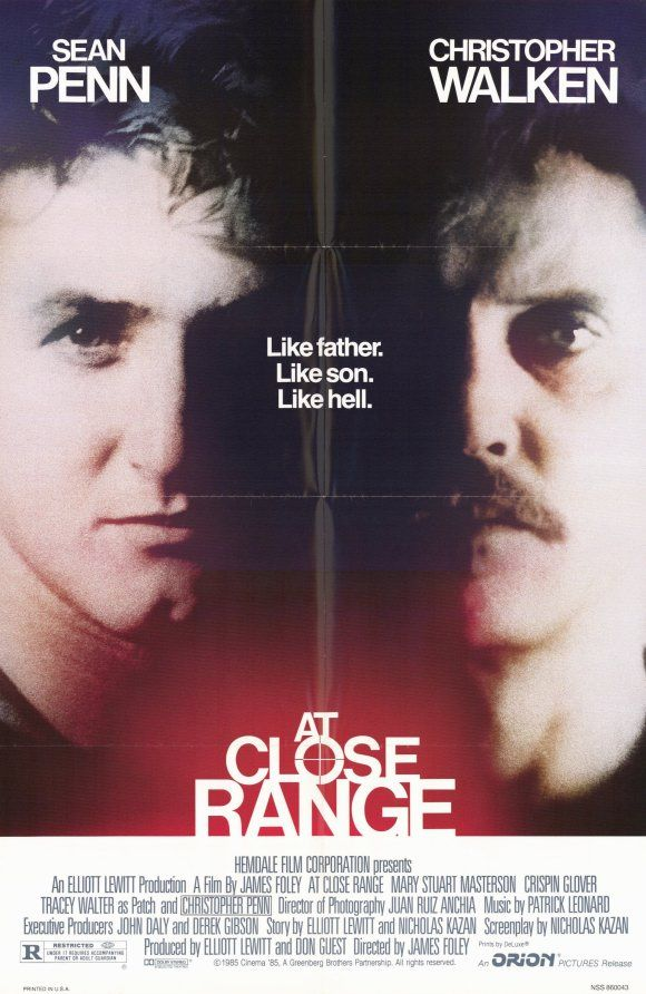 At Close Range Starring Sean Penn Christopher Walken Mary Stuart Masterson Kiefer Sutherland And Chris Penn Afiche De Pelicula Peliculas Peliculas Online