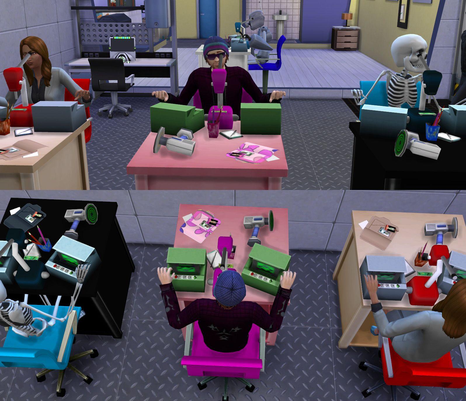 Modthesims Smaller Microscope Alternative Sims 4 Skills Sims 4 Update Sims 4