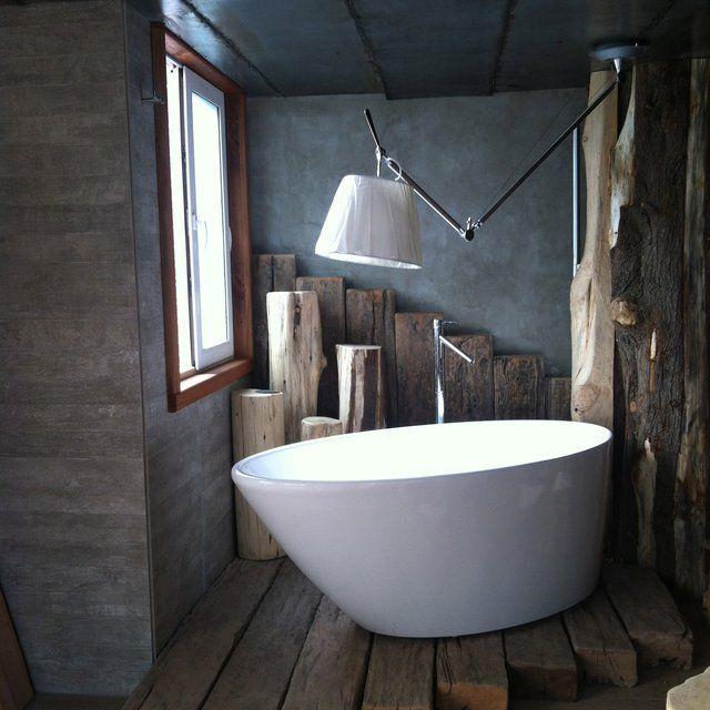 Tolomeo Off Center Suspension Light Bathroom Interior