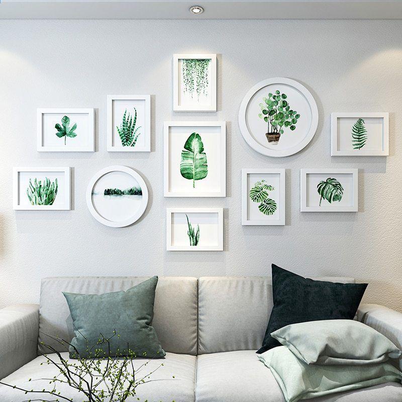 Cornici per foto di piante fresche Cornici rettangolari