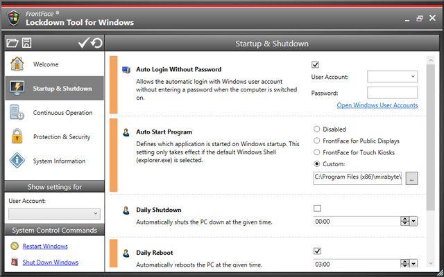 Configure a Windows PC as an interactive kiosk terminal or digital