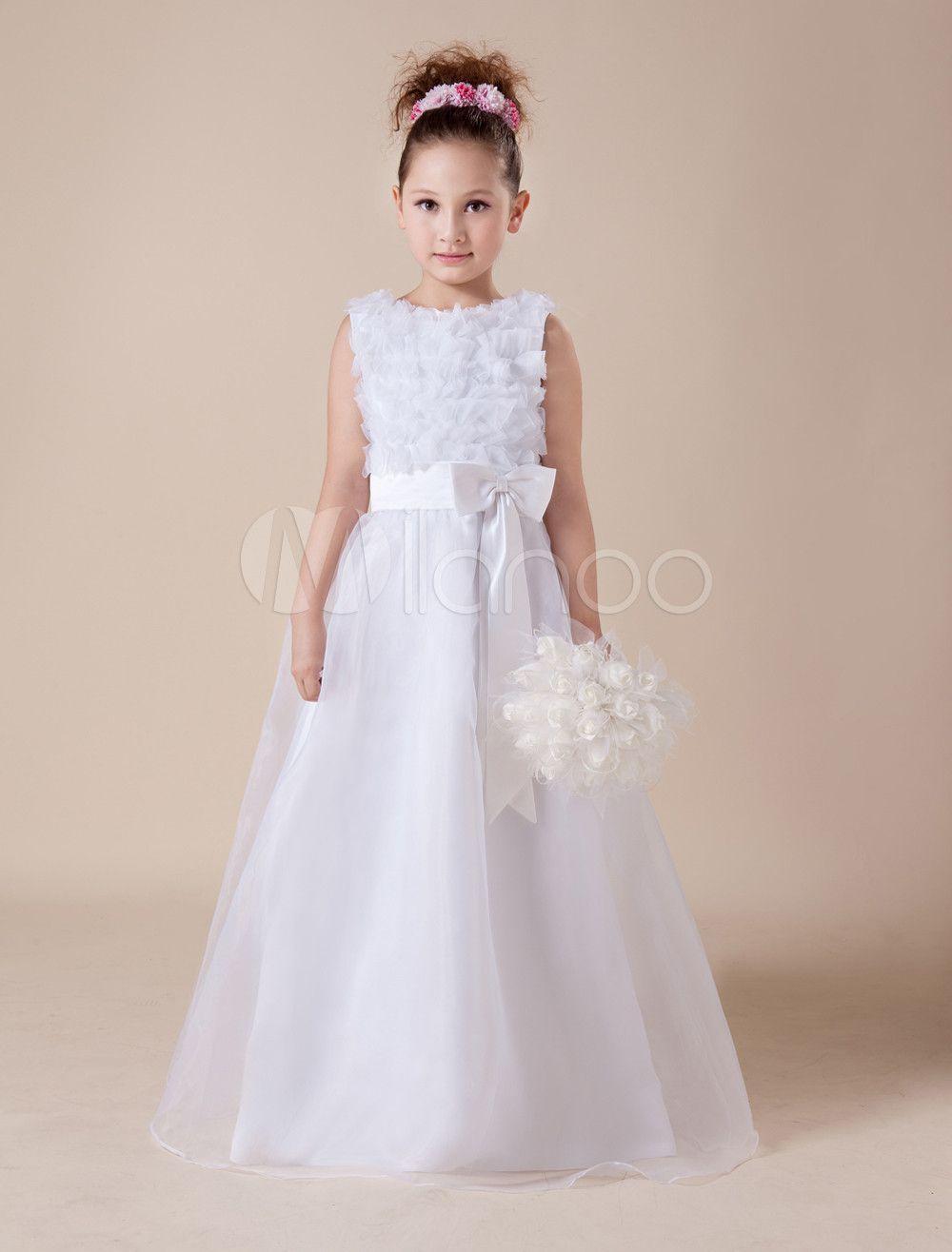 White Soft Tulle Flower Girl Dress Cute Children Pinterest