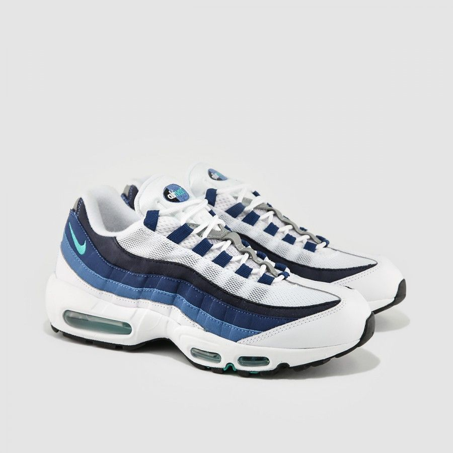air max 95 white slate blue
