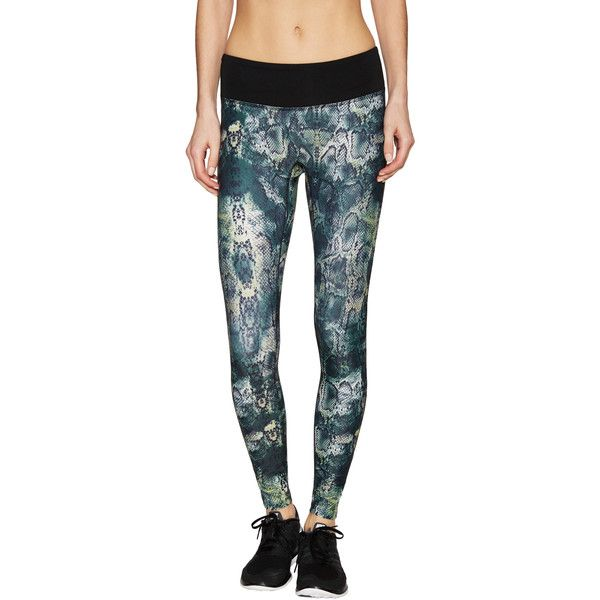 Prismsport Prismsport Women's Animal Print Athletic Legging - Size L ($49) ❤ liked on Polyvore featuring pants, leggings, multi, mesh-panel leggings, knit leggings, knit print leggings, legging pants and print leggings