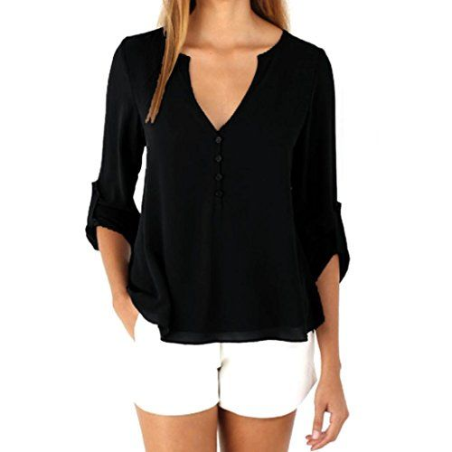 (Baomabao Womens Long Sleeve Chiffon Shirt Tops Fashion Blouse)  Buy-Accessories.net e390400aa