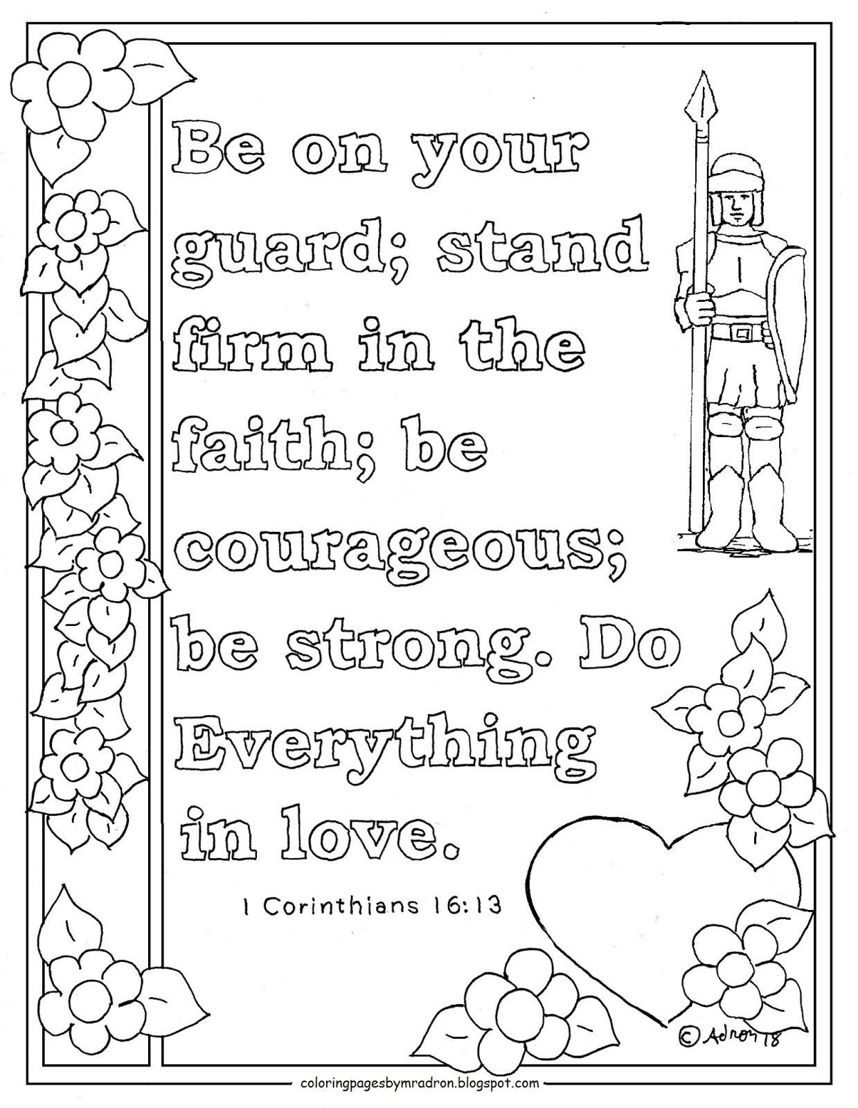 Carry Each Others Burdens Galatians 6 2 Printable Coloring Page
