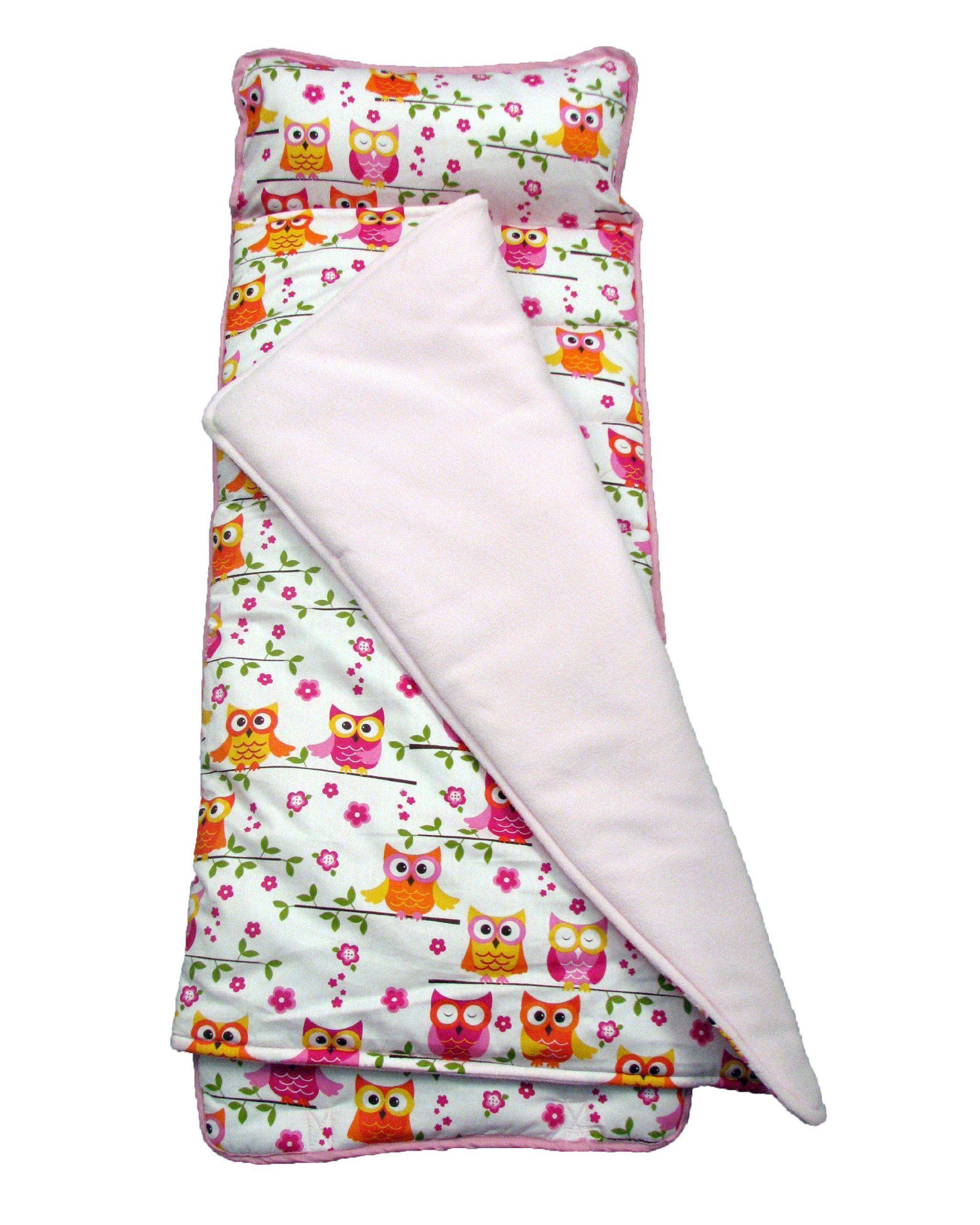 Soho Nap Mat Pink Owls Nap Mat Pink Owl Slumber Bags