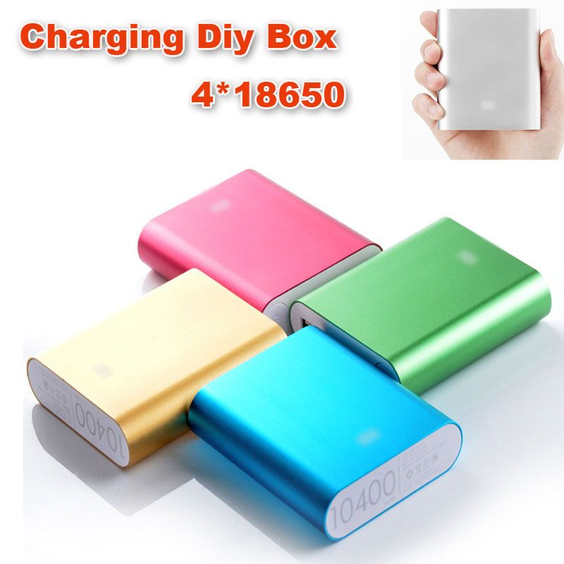Aliexpress Com Buy Universal Diy Power Bank 4x18650 Led 5v 1 0a Power Bank Case Kit Diy Cell Box Portable External Battery Charger Powerbank Power Bank Case