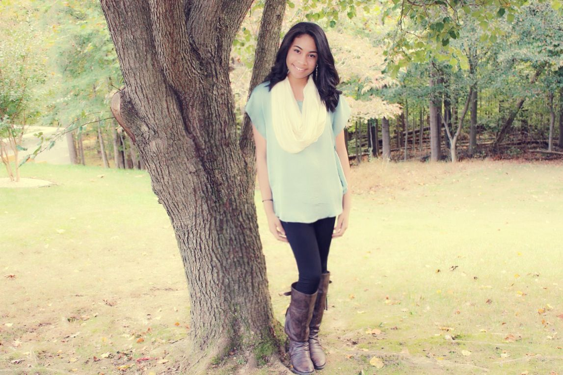 Comfy, but Cute:) Shirt from Zara; Jeggings from Nordstrom; boots from Nordstrom; Earrings from Zara.