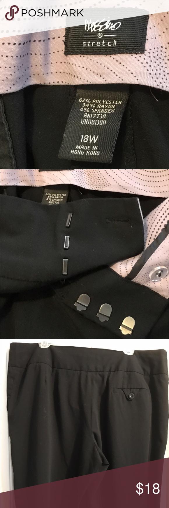 Mossimo Plus Size Black Dress Pants Size 18w Plus Size Black Dresses Black Dress Pants Dress Pants [ 1740 x 580 Pixel ]