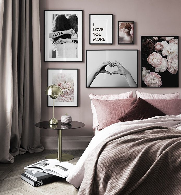 Bedroom Inspiration Posters And Art Prints In Picture Walls And Collages Gallery Wall Bedroom Bedroom Inspirations Bedroom Interior