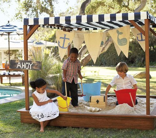 Pottery Barn Mclean: Play Time! Chesapeake Oversized Sandbox $400 Pottery Barn
