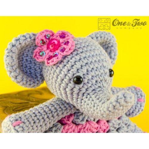 Elephant Security Blanket Crochet Pattern Baby Blanket Pinterest Fascinating Elephant Baby Blanket Crochet Pattern