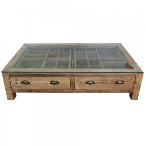 Natural Wax Finish Coffee Table With Compartment Drawer Coffee Table Display Coffee Table Chest Coffee Table
